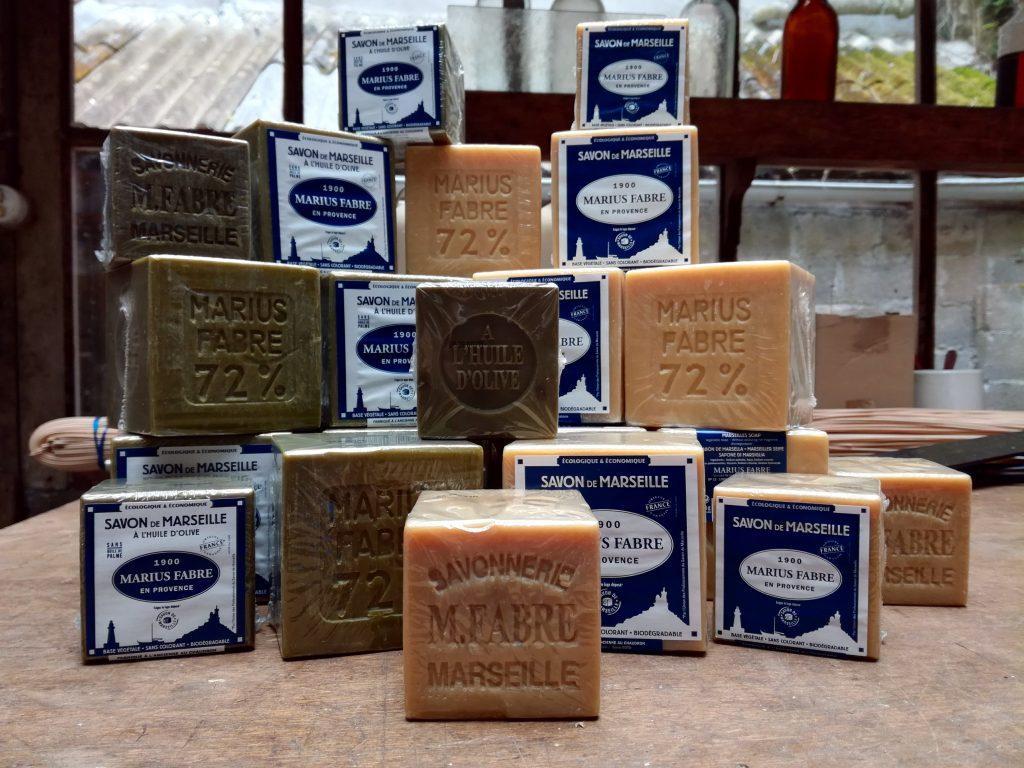 Cubes de savon de Marseille