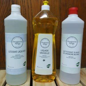 Liquide Vaisselle, Lessive liquide, Vinaigre blanc marque Droguerie Neige
